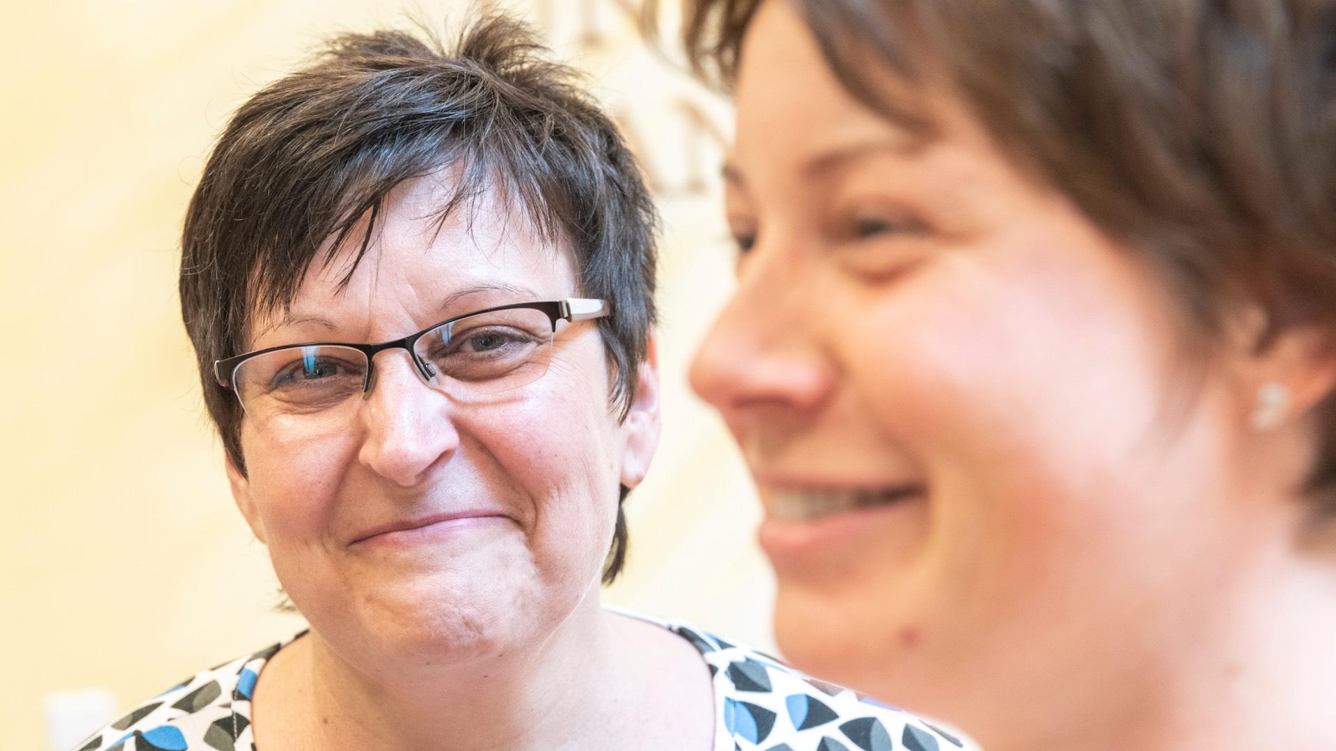 Mitarbeiter des Hospizes Haus Geborgenheit in Neustadt
