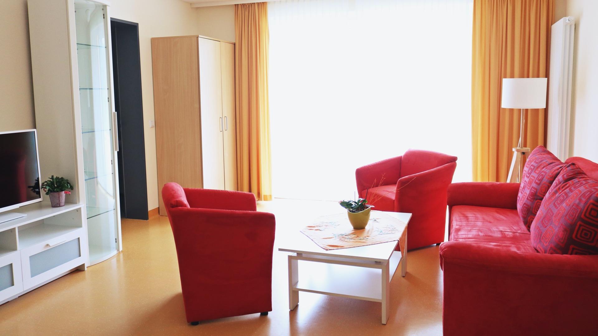 Besucherzimmer im Hospiz Haus Geborgenheit Neustadt im Harz